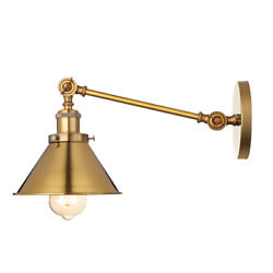 Mid Modern Wall Sconce Lamp Vintage Adjustable Wall Lighting Fixture in Brass $39.99