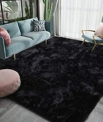 Luxury Fluffy Big Area Rug Modern Shag Rugs for Bedroom Living Room in 4 colors $40.79