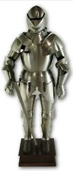 Antique Unique Stainless Steel Mini Suit of Armor Medieval Knight Home Decor $250.00