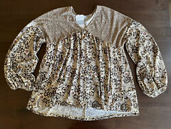 White Birch Cause for Applause Top Floral Size XL BNWT $12.00