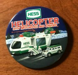 Hess 2001 Helicopter with Motorcycle and Cruiser Pin $7.50