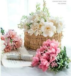 Silk Artificial Bouquet Flower Decor Wedding Party Home Peony Fake Rose Bunch US $9.19