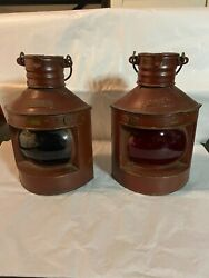 VINTAGE TUNG WOO STERN COPPER SHIPS LANTERN Copper and Brass. $245.00