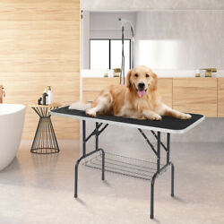 48quot; Foldable Pet Grooming Table Portable w Mesh Tray amp; Adjustable Arm amp; Noose $114.99