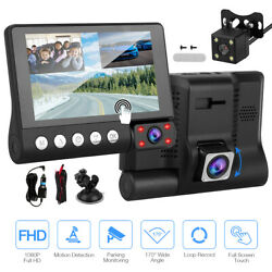 WiFi 1080P Car Camera Dual Dash Cam Rear and Front Night Vision 170 Wide Angle $31.99