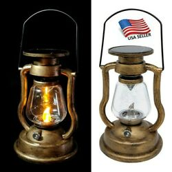 Solar Power Outdoor Garden Flickering Led Candle Lantern Light Traditional Lamps $13.75