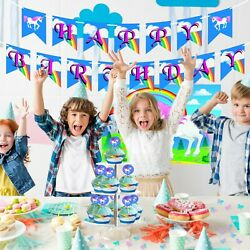 Unicorn Party Supplies Birthday Bundle For Girls Decorations amp; Cupcake Wrappers $19.99
