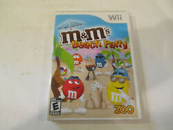 M amp; Ms Beach Party for Wii Used in Very Good Condtion Free Shipping $8.95