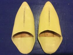 Moroccan Boys Slipper Babouche Traditional Handmade Leather Size 13 $11.00