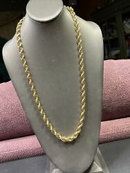 """Signed Monet Gold Tone Quality Chunky Quality Twisted Chain Link Necklace 26"""" $24.98"""