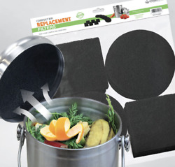 2 PACK 12 Compost Bin Filters Kitchen Compost Filters Refill Replacement $15.50