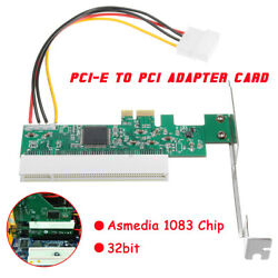 PCI Express PCIE To PCI Adapter Card Asmedia 1083 Chip Riser Extender 32bit & C $18.87