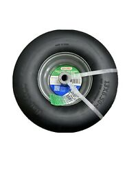 2 New 13x6.50 6 Flat Free Commercial Lawn Mower Smooth Tire with Steel Rim $142.99