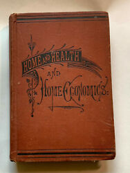Home And Health And Home Economics by Fowler 1880 Antique Vintage $48.95
