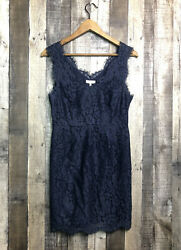 Joie Rori Lace Dress Navy Blue Sleeveless Cocktail Party Size Small $27.00