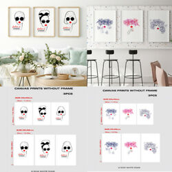 3PC Abstract Girl Portrait Print Canvas Painting for Living Room Wall Art Poster $11.99