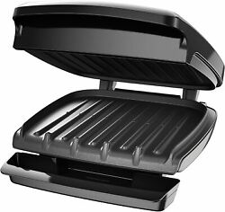 George Foreman Electric Indoor Grill And Panini Press 4 Serving Classic Plate $39.95