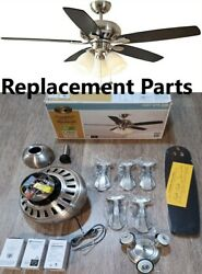 Replacement Parts for Hampton Bay Rockport 52quot; Indoor Brushed Nickel Ceiling Fan $13.99