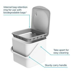 Minky Kitchen Compost Bin 3.5L Capacity Stay Open Lid Designed amp; Made in UK $29.33