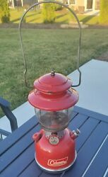 June 1965 Red Coleman Lantern 200a With Parts Safe Rising Sun Coleman Globe $169.99
