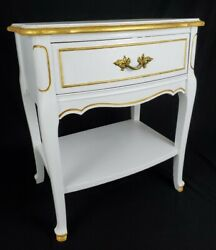 Vintage Nightstand End Table French Provincial Refinished Dixie Furniture $157.05