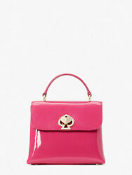 NWT Kate Spade New York Romy Mini Pink Patent Top Handle with adjustable strap $185.00