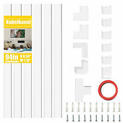 Cable Concealer On Wall TV Cord Management Channel Mini Wire Hider Cover Kit US $18.99