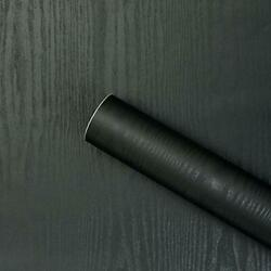 Wall Paper Black wood 17.71quot; X for Furniture Cabinet Countertop Shelf Paper $20.46