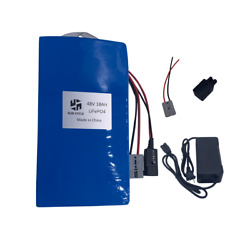 48V 18AH 1000W EBIKE BATTERY Pack LiFePO4 Lithium Charger Electric Bicycle Power $416.94