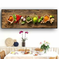 Kitchen Canvas Painting Posters and Prints Wall Art Food Picture for Living Room $24.90
