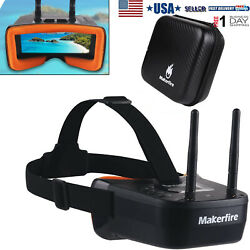 5.8Ghz Mini FPV Goggles 3 inch 40CH Video Headset Glasses for FPV Racing Drone $47.49