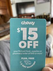 pet supplies Chewy $15 Off $49 Plus 1 2 Day Shipping. Exp 09 30 2021 $6.00