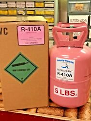 R410a Refrigerant 410 5 lb. Sealed Cylinder A C Recharge Gas FREE Shipping $139.00