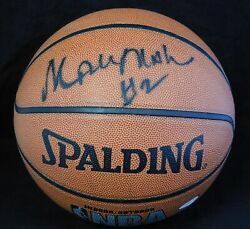 Moses Malone Signed Spalding Indoor Outdoor NBA Basketball JSA Authenticated $249.99