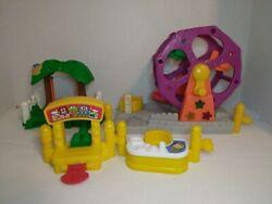 Fisher Price Little People Mixed playset Lot Amusement Park police desk swing $13.75
