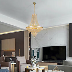 Classic French Empire Style Crystal Chandelier Gold H30quot; X W24quot; Ceiling Light US $190.00
