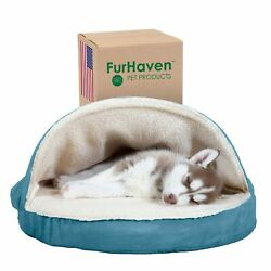Furhaven Pet Beds for Dogs and Cats Snuggery Orthopedic Dog Bed with At... New $39.07