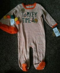 New Boys 9 Months Thanksgiving Turkey Outfit $12.00
