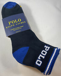 Polo Ralph Lauren ANKLE MEN Socks Size 6 12.5 Classic Sport 3 Pair Cushioned NEW $14.99