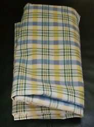 Waverly Fabric quot;Claire#x27;s Checkquot; Blue Yellow White Vtg over 2 yards Curtain $9.99