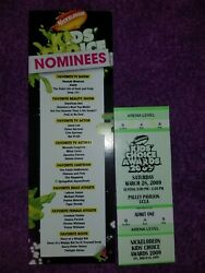 Nickelodeon Kids Choice Awards 2009 Authentic Ticket And Brochure $200.00