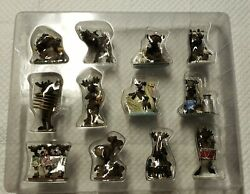 12 Days Of Christmas Ornaments Big Sky Carvers Mountain Mooses New quot;No Boxquot; $65.00