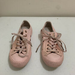 Converse All Star Womens Size 9 Mens 7 Pink Low Top Sneakers Shoes $19.99