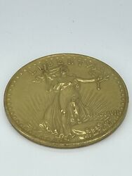 US 1907 20 DOLLARS LIBERTY COIN COIN NOT GOLD LARGE NOVELTY $11.50