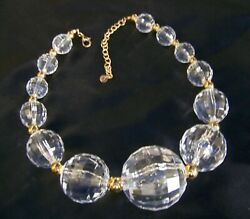 Oversized Pools of Light Lucite Clear Choker Statement Vintage Style Necklace $39.99