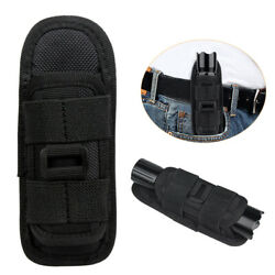 Tactical Flashlight Holster Carry Case Flashlight Pouch 360Degree Rotatable Clip $7.69