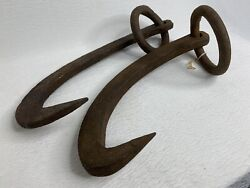 VINTAGE Log Dogs Grabs LOGGERS DOG HEAVY DUTY HAND FORGED USA $49.99
