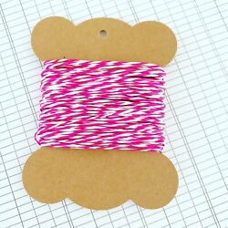 10 Metres High Quality Bright Pink amp; White Paper String AU $2.95