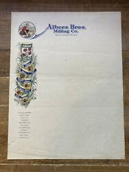 ALBERS BROS. MILLING CO. CARNATION Letterhead Paper with Cowboy Image $19.99