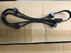 2 CABLES PCIE GPU 6Pin to 4 SATA Power Cable PSU for CORSAIR HX1200 $12.00